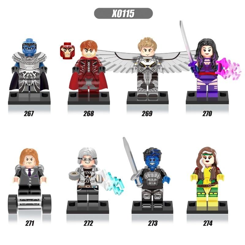 Single Sale Super Heroes X-Man Apocalypse Professor X Magneto Sabretoot Bricks Building Blocks Education Toys For Children