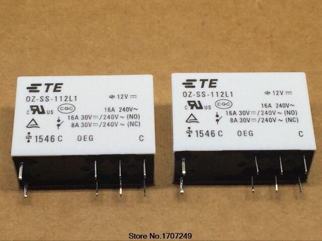 Бесплатная доставка 10 шт./лот 100% Новый оригинальный OEG силовых реле OZ-SS-112L1 унций SS 112L 12VDC 12 В 16A 8PIN
