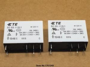 Image 1 - 무료 배송 10 개/몫 100% 새로운 오리지널 oeg 파워 릴레이 OZ SS 112L1 oz ss 112l 12vdc 12 v 16a 8pin