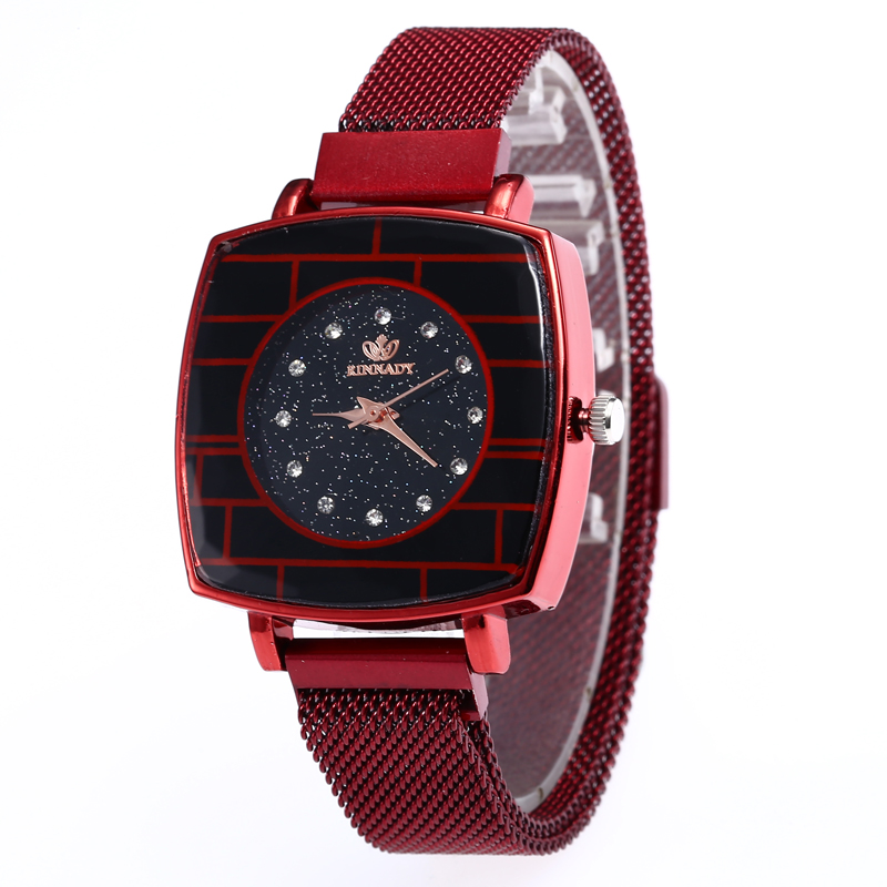 Luxury Women Watches Fashion Elegant Magnet Buckle Ladies Quartz Rhinestone Wristwatch 2019 New Starry Sky surface Gift Clock