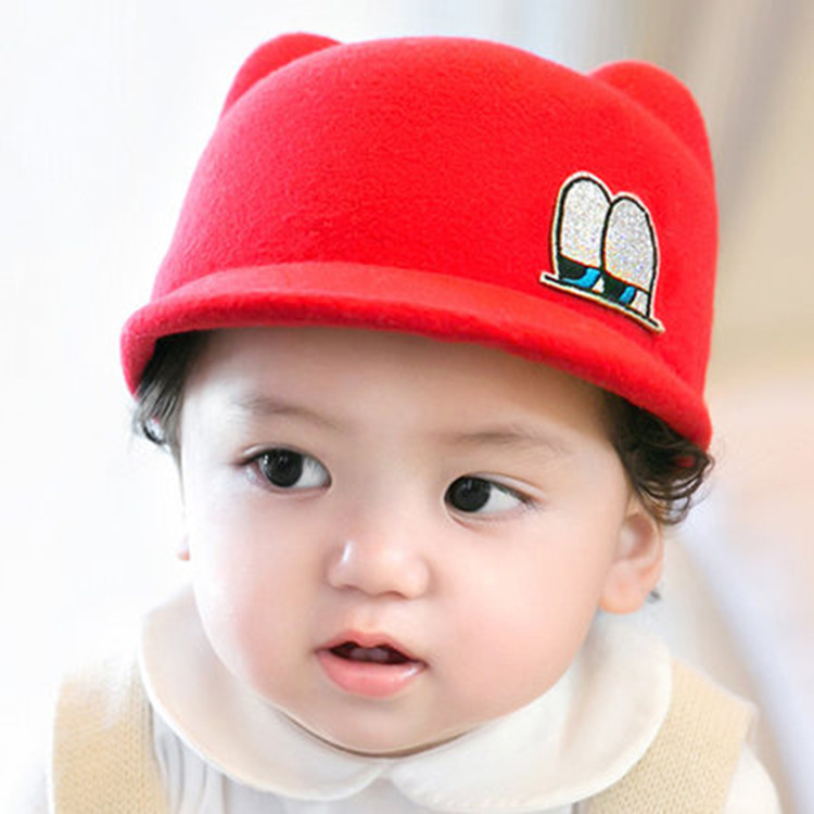 ba3ec6436d3 2016 Korean boy and girl baby wool Riding Hat Infant autumn and winter new  large peaked cap warm hat cap kids beanies baby hats-in Hats   Caps from  Mother ...