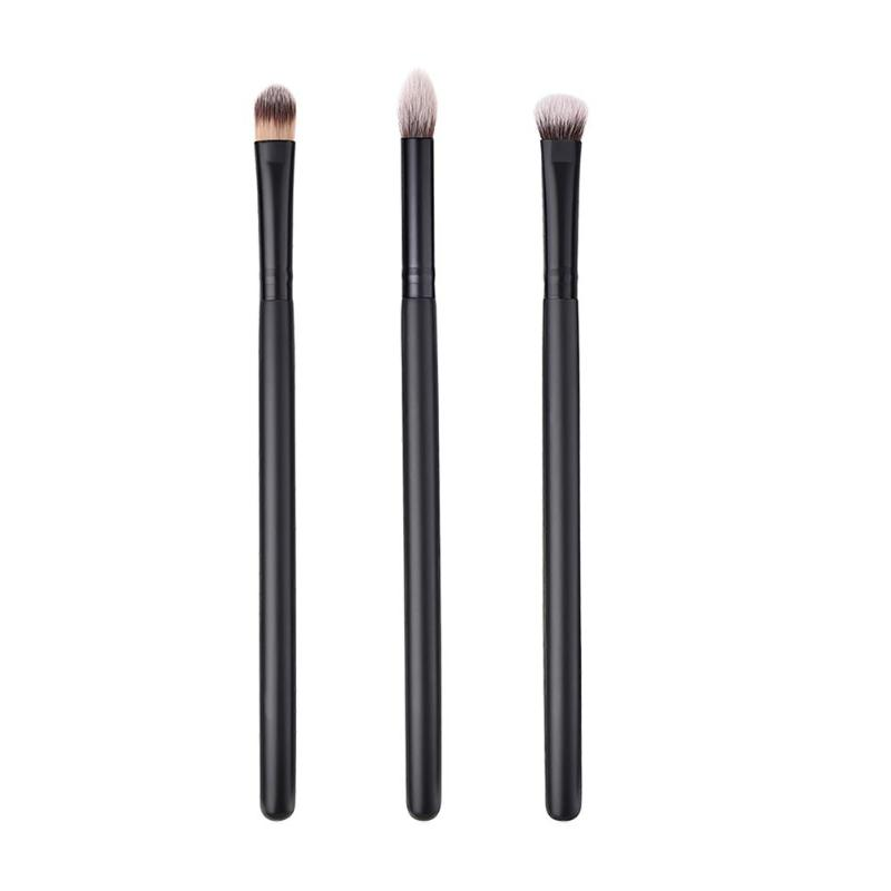 Pro 3pcs Cosmetic Makeup Brushes Set Blusher Eye Shadow Brow Lip Powder Foundation Make up Brush kit Beauty Essentials