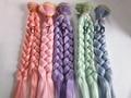 1 шт. 20 см * 100 СМ кукла Парики/волос Косы прически для 1/3 1/4 BJD/SD diy моделирование Розовый фиолетовый мятно-зеленый