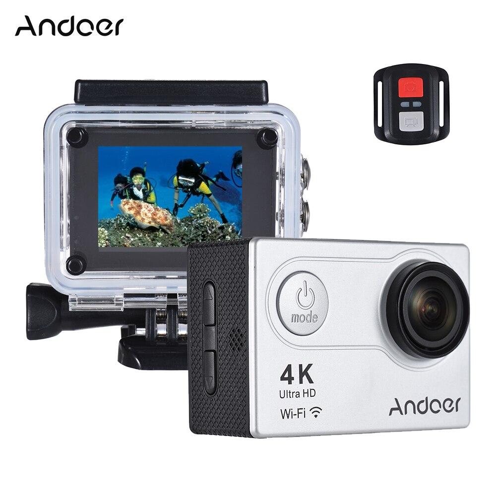 Andoer AN6000 2 LCD 4K WiFi Camera 1080P 16MP Ultra HD Waterproof Action Sports Camera 170 Angle Lens 4X Zoom Slow Motion Shoot