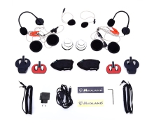 EU Plug MIDLAND Paired BTX2 FM Motorcycle Bluetooth  3.0 Version Intercom Users Within 800 Meters Built in Li-ion Battery