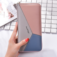 Women Wallet Case For IPhone 6 6S 7 8 Plus 5S Phone Cover Triple Splice Leather