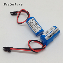 цена на MasterFire 2pcs/lot New Original Allen Bradley 1756-BA2 PLC Controller 3V Lithium Battery Batteries Free Shipping