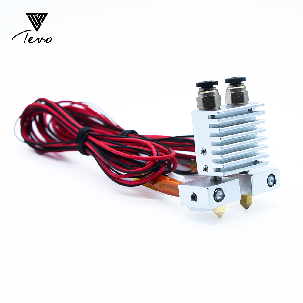 3D Printer Part TEVO Tarantula Dual Extruder Upgrade Fully Kits Dual Extruder 3010 12V cooling fan with two Nema 17 Step motor