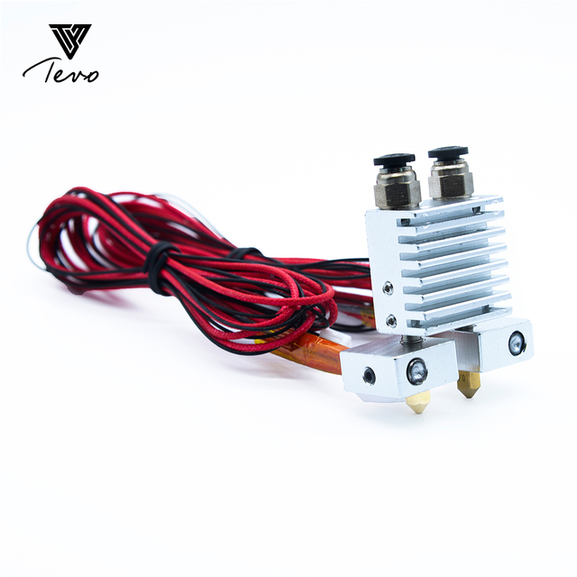 3D Printer Part TEVO Tarantula Dual Extruder Upgrade Fully Kits Dual Extruder 3010 12V  cooling fan  with two Nema 17 Step motor