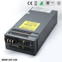 800W 33A 24 V Adjustable Smps Power Supply 24V Transformer 220v 110v AC to fonte 24V For Led Strip light CNC CCTV