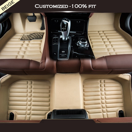 Custom car floor mats For land rover all model Rover Range Evoque Sport Freelander Discovery 3 4 Defender LR car accessories leather car seat covers for land rover discovery sport freelander range sport evoque defender car accessories styling