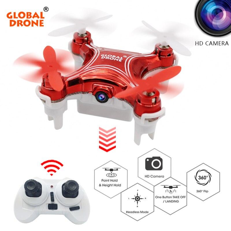 Global GW009C-1 Altitud Holder Mini Drone RC Quadcopter Drone con cámara Headless Modo Helicóptero con Cámara HD VS X12S H36