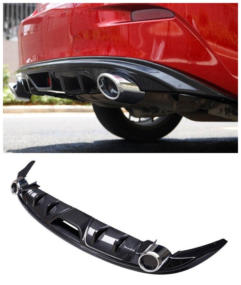 Mazda 3 Axela 2017 >> For Mazda 3 AXELA 2014.2015.2016.2017 Rear Lip Spoiler Car Bumper Diffuser Auto Accessories -in ...