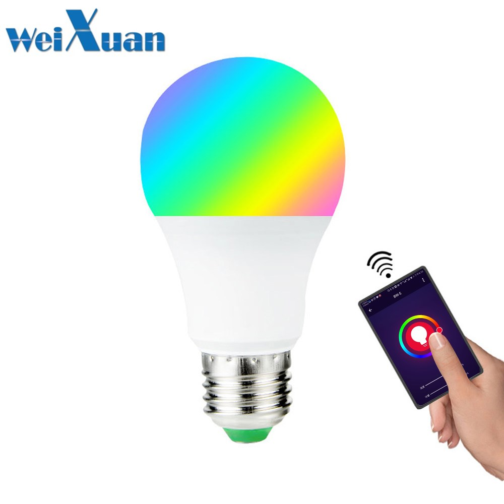 Temperate E27 Smart Dimmable Rgbw Led Bulb Wireless Bluetooth App Control Remote Control Voice Control Lamp 7w 110v/255v For Household Led Bulbs & Tubes