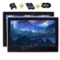 11.6 HD Digital Panel Car Auto Monitor Headrest DVD Support USB/TF/32 Bit Game/HDMI Built in IR Transmitter & FM Transmitter