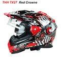 New THH TX27 motocross helmet with dual lens Full face motorcycle helmets ABS Material helmets casco de motocicleta DOT approved