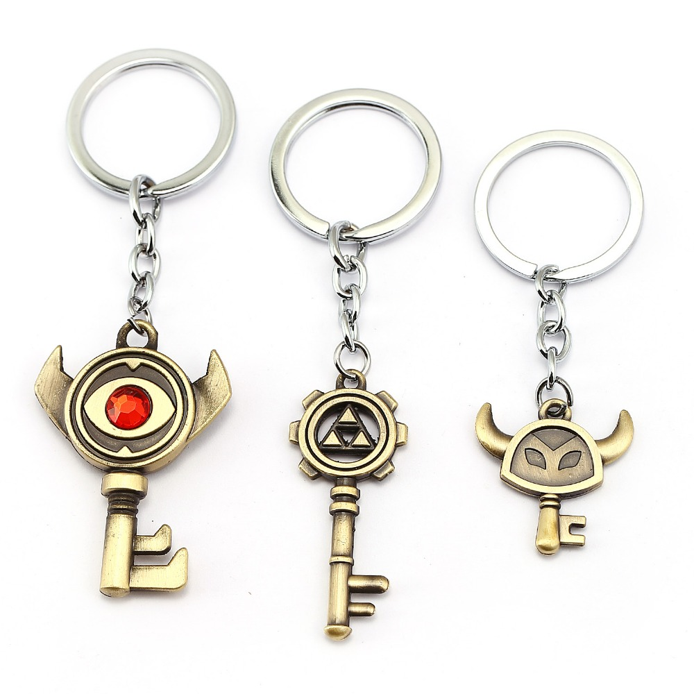 US $18 38 12% OFF|12pcs/lot Wholesale The Legend of Zelda Keychain Phantom  Red Hourglass Metal Car Key Chain Ring Cartoon Fans 12054-in Key Chains