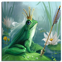 Frog Prince 20x20cm Wholesale DIY Diamond Painting Home Decoration Full Drill Square Rhinestone Embroidery Needlework Mosaic