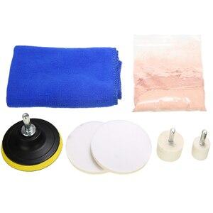 Image 2 - 8pcs/set Car Windscreen Window Scratch Repair Remover Glass Polishing Kit Universal Car Polishing Grinding Materials Tools