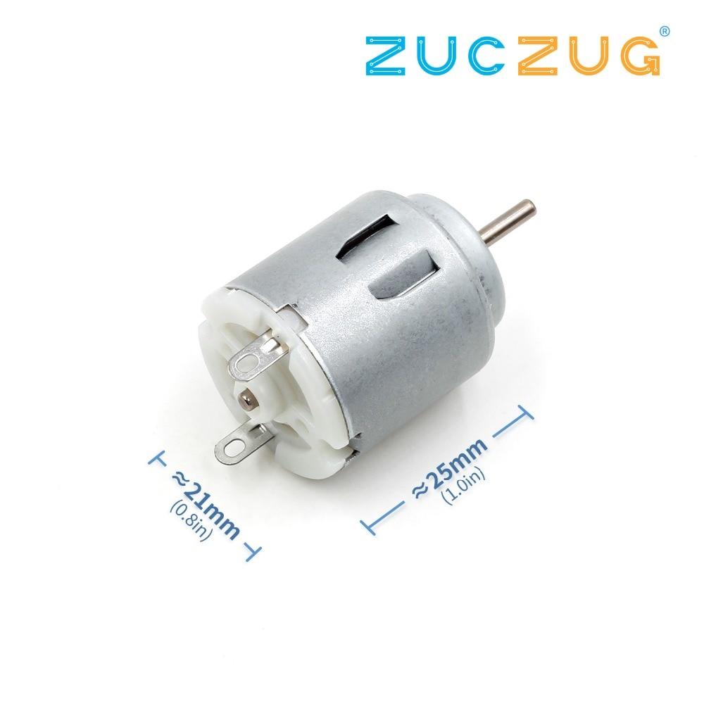 10Pcs Mini Motor 130 DC Brush Toy Motor For Type 3V-6V DC Motor Toy DIY E