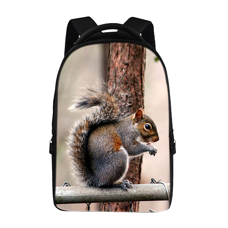 squirrel prints Backpacks For Teens Computer Bag Fashion School Bags For Primary Schoolbags Fashion Backpack Best Book Bag