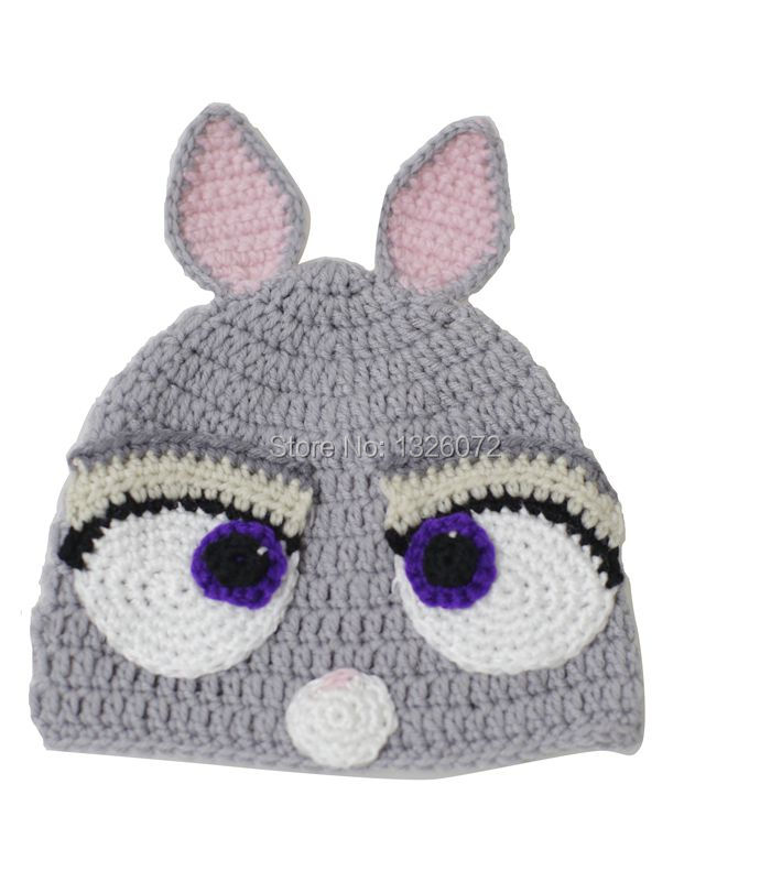 Handmade Crocheted Children Crazy Animal City Cool Beanies Boy