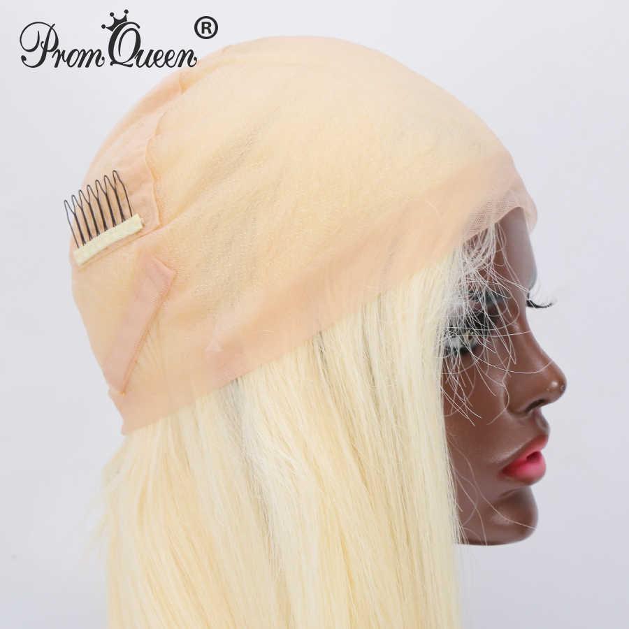 8-40 pulgadas 42 pulgadas Pelo Largo Peluca de encaje brasileño peluca recta pelucas de cabello humano #613 cabello rubio Pre desplumado para mujer