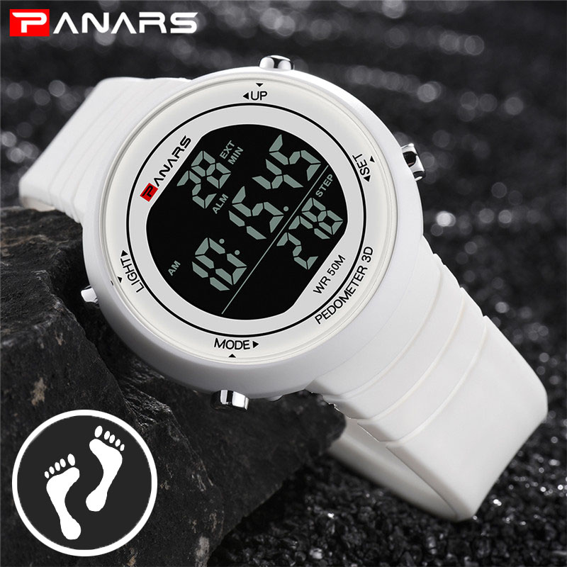 Pedometer Watch Clock Woman Waterproof 50M Outdoor Digital Sports Watch Women Simple Small Bracelet Hand Wrist Watches Hour Gift