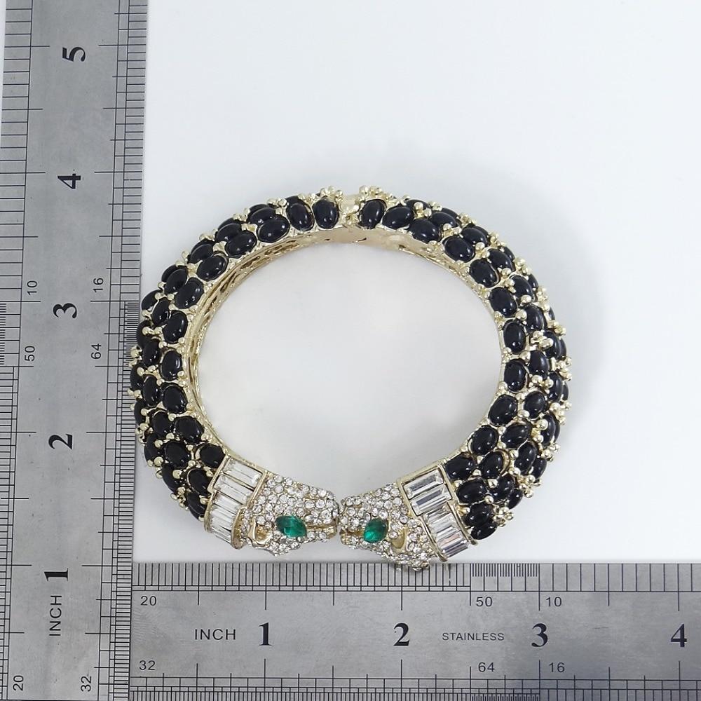 Tuliper Black Kiss Panther Leopard Animal Bracelet Bangle Austrian - Fashion Jewelry - Photo 6