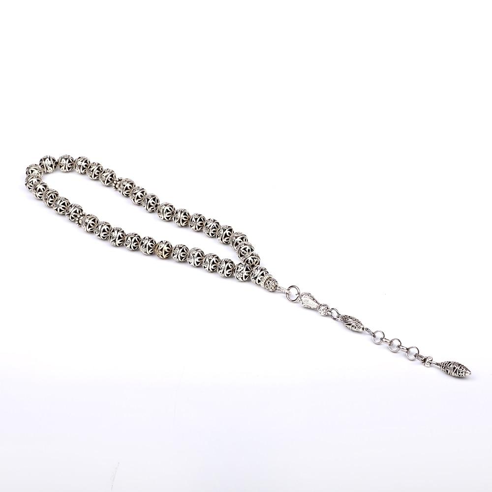 Yeni varış DIY 1 parça lüks 11mm gümüş yuvarlak hollow - Kostüm mücevherat - Fotoğraf 2