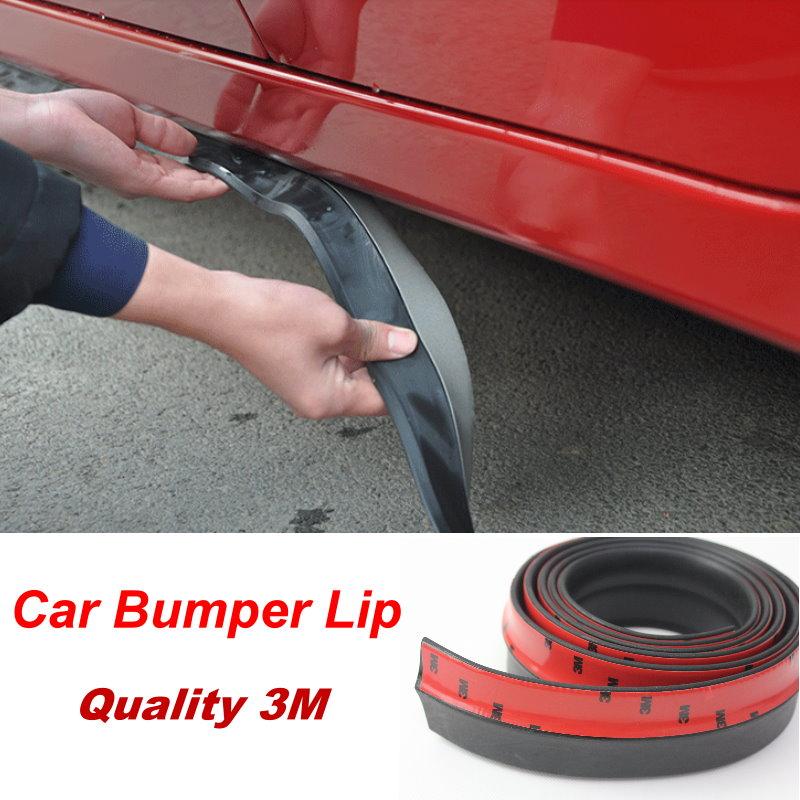 2.5M Universal Front Bumper Lip Splitter Body Spoiler Rubber Black Fit Jeep