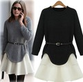 women 2016 ensemble jupe et haut knitwear bayan kazak jerseis knitted jumper pull femme hiver skirt and top set sweaters