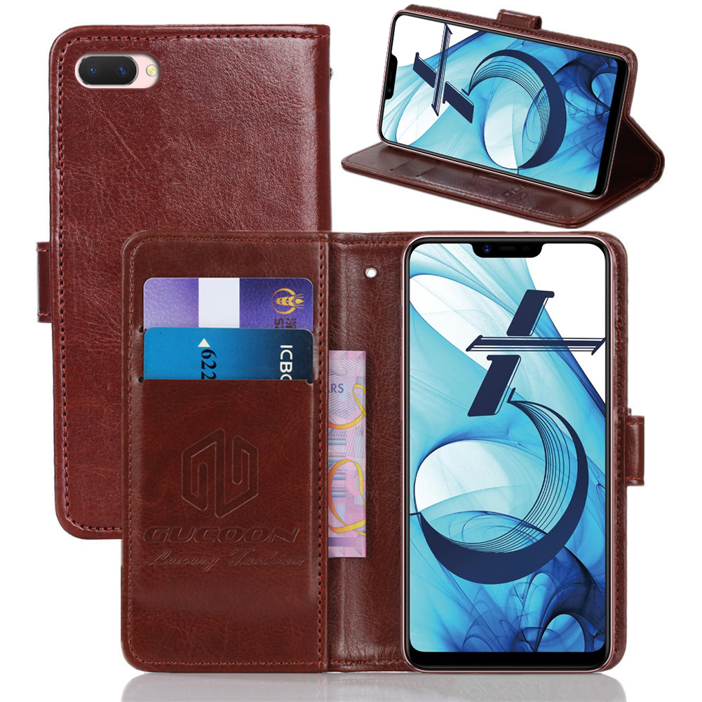 Classic Wallet <font><b>Cover</b></font> for <font><b>OPPO</b></font> A7 A7x AX5 AX7 A73s R15x K1 <font><b>Find</b></font> <font><b>X</b></font> Realme 2 RX17 Pro Neo C1 U1 Case PU Leather <font><b>Flip</b></font> Case Phone Bag image