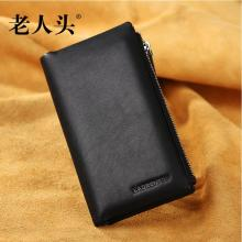 Male long section Clutch Wallet genuine leather buckle Male fashion wallet
