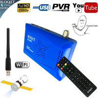 Mini Size HDMI Digital Dual DVB S2 SatelliteYoutube Receiver HD IKS WIFI Power Vu PVR