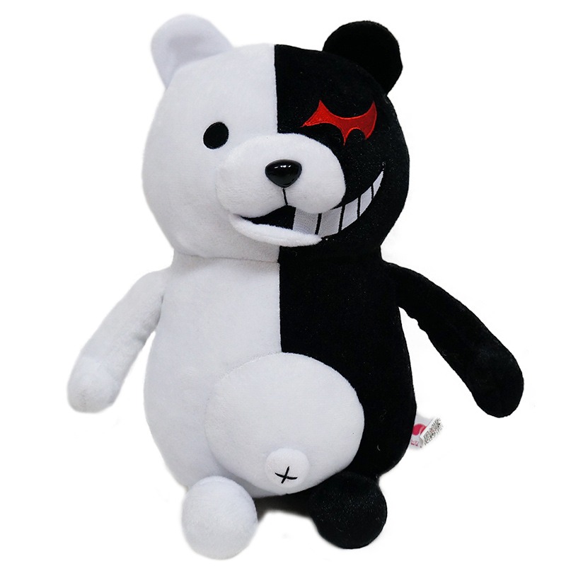 1pc 25cm/35cm Kawaii Dangan Ronpa Monokuma Plush Toys Stuffed Soft Cartoon Black White Bear Doll Kid Children Birthday Gifts