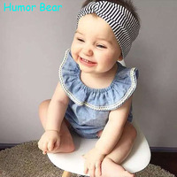 Humor Bear New 2016 Summer Baby Girls Clothes Set Cotton Suit Kids Clothing Infant Clothing