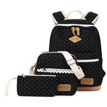 Женщин рюкзак для девочек-подростков школьные сумки рюкзак Back Pack Холст Симпатичные Звезды печати рюкзак набор для детей сумка для ноутбука