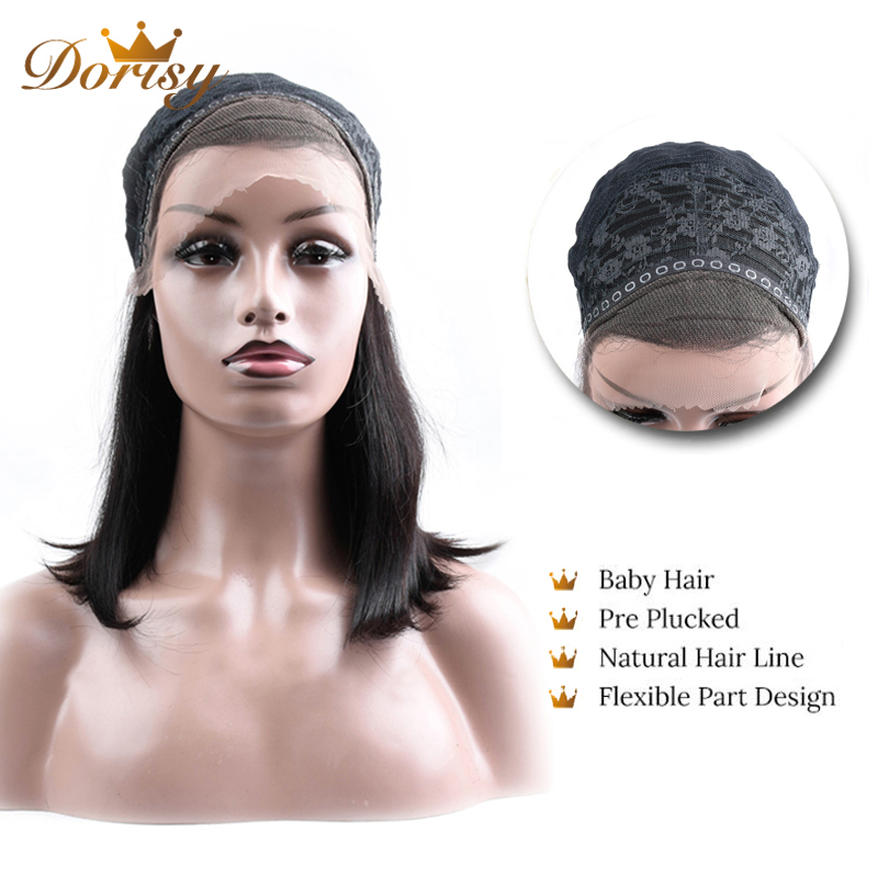 Image 2 - Human Hair Wigs 13×2 Lace Short Bob Wig Brazilian Straight Hair Natural Color 2# 4# Lace Wig For Black Women Non Remy Hair-in Lace Front Wigs from Hair Extensions & Wigs