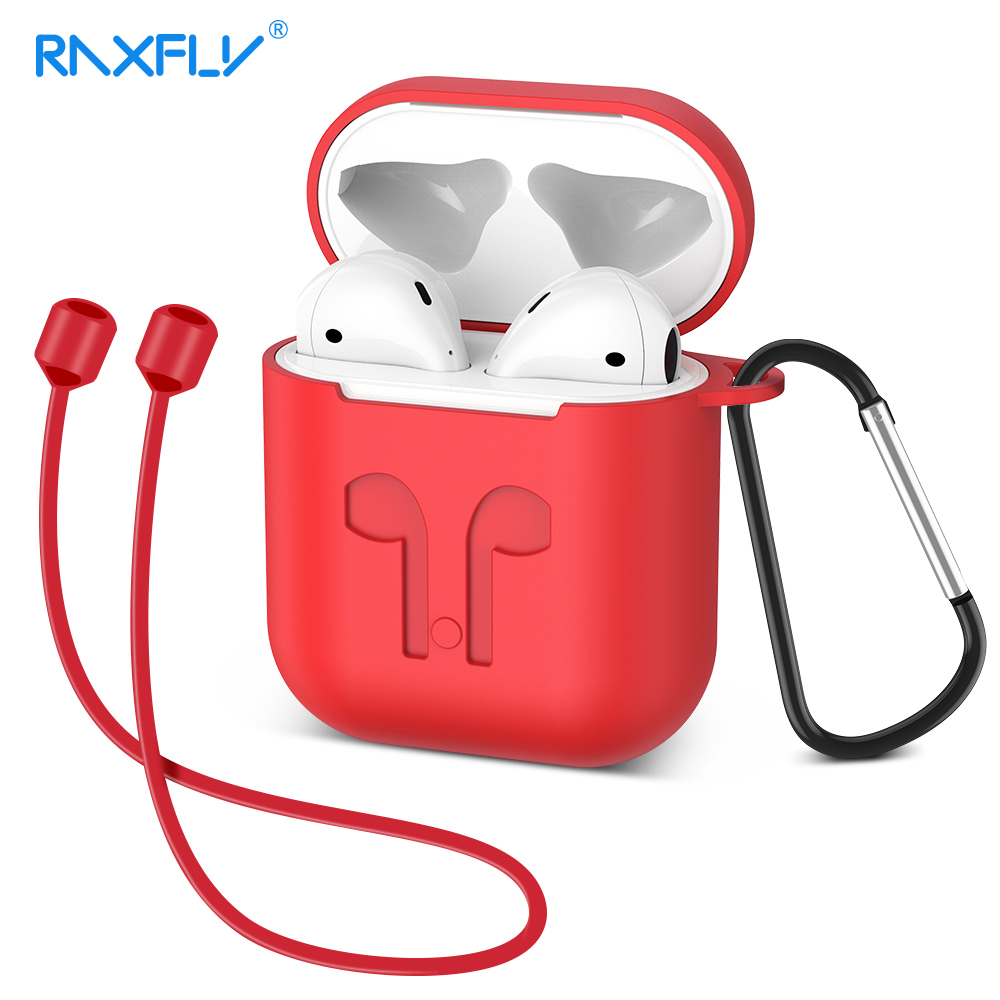 RAXFLY Earphone Case For Apple Airpods Soft Silicone Headphone Case Earphone Accessories Protective Cover For iPhone Earphones стоимость