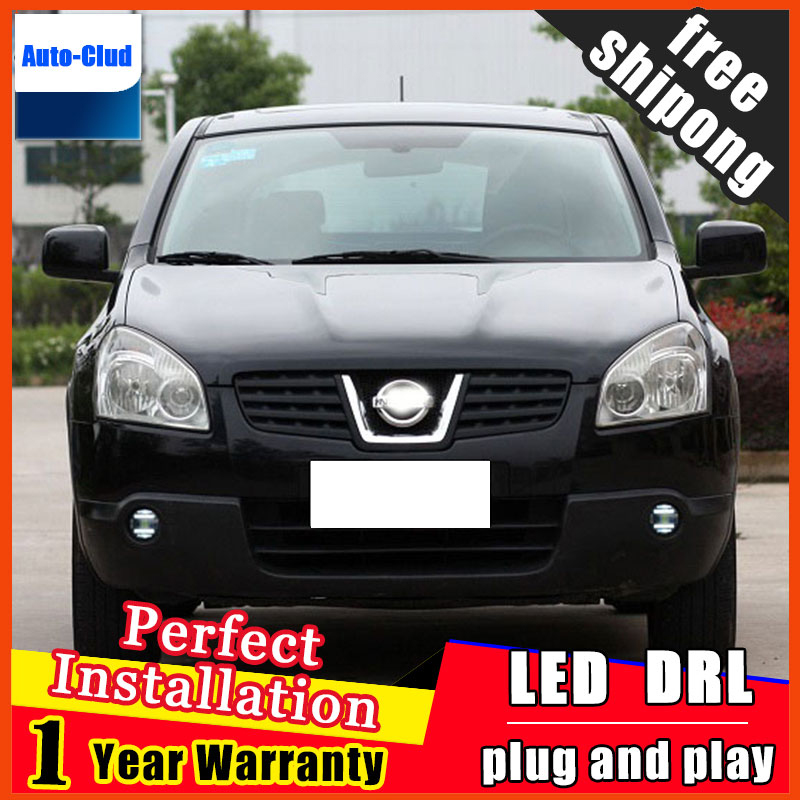 Car-styling LED fog light for Nissan Qashqai 2010-2015 LED Fog lamp with lens and LED daytime running ligh for car 2 function free shipping 2pcs lot t10 ba9s car led lamp light 12v parking lamp light bulb for nissan qashqai with xenon terrano3 xtrail