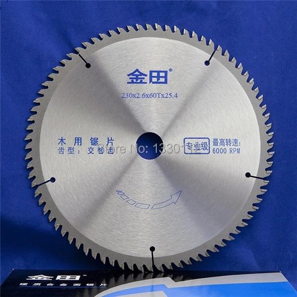 цена на 9 60T 1 pcs 230mm diameter 60 teeth woodworking wood table saw blades cutting solid bar rod