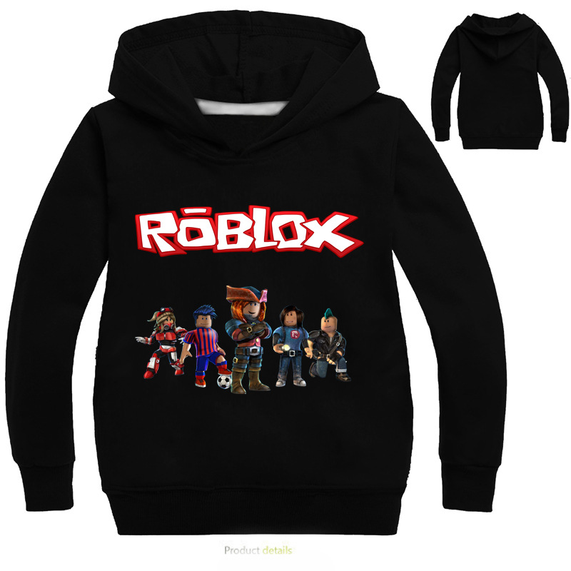 Boys & Girls Cartoon Roblox T shirt clothing Red Day long sleeve hooded sweatshirt clothes coat(China)