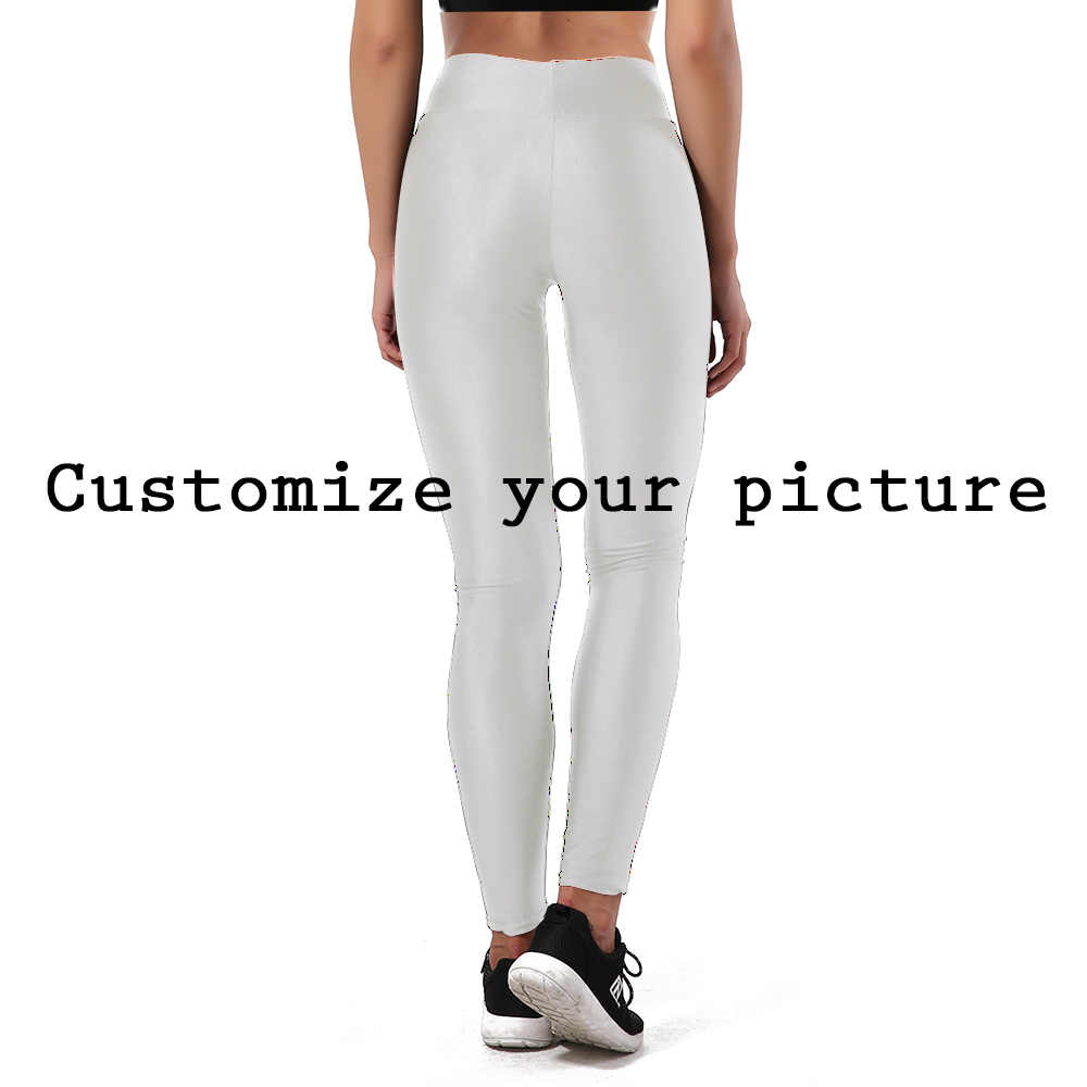 Nadanbao legging diy para personalizar mulheres, 3d, digital, 1min, cintura alta, legging para esportes, fitness, para mulheres, plus size S-XL