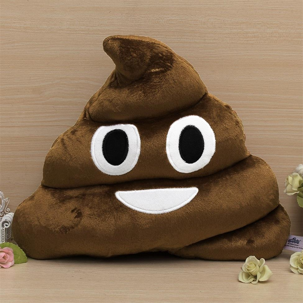 Hot 1 pcs soft coffee smile face emoji poo shape stuffed pillow 1 pcs soft coffee smile face emoji poo shape stuffed pillow doll toy best gift cushion new sale in stuffed plush animals from toys hobbies on gumiabroncs Gallery