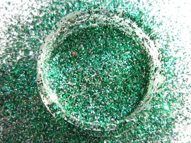Polvo Del Brillo de Plata fina Verde Brillo Resistente A los ...
