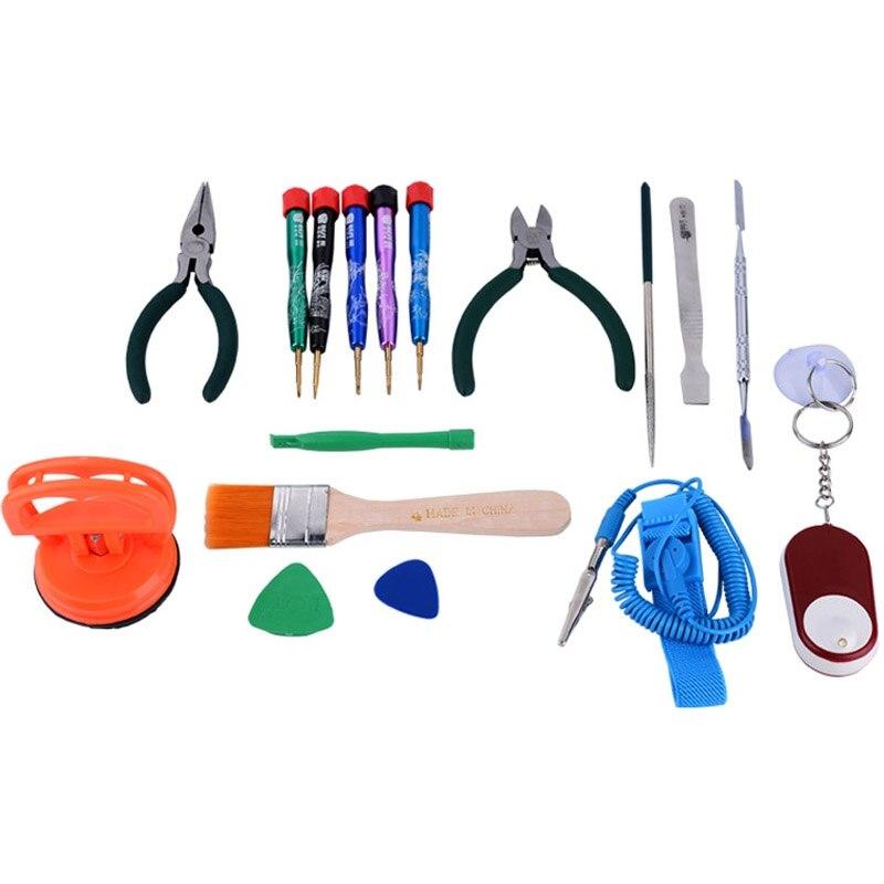 Ensemble d'outils de réparation multi-usages professionnels 17 en 1 pour téléphone portable/ordinateur portable