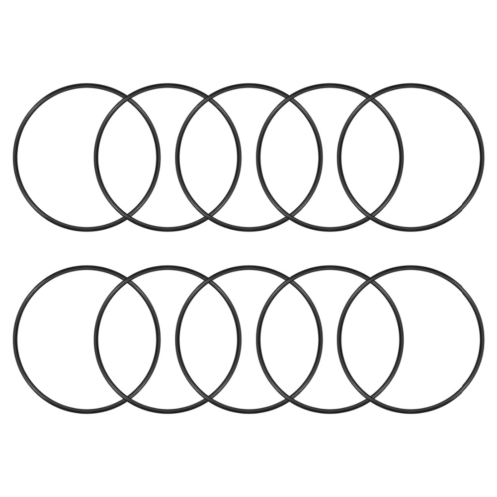 Uxcell 10Pcs Gaskets O Rings Nitrile Rubber 117/122/127