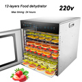 12-слойный Дегидратор для пищевых продуктов  коммерческая/домашняя сушилка для пищевых продуктов двойного назначения  машина для сушки фрук...