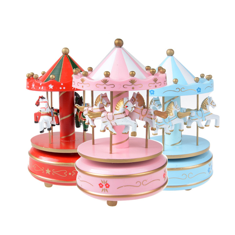 Beautiful Merry-Go-Round With Flash Light Fantasy Carousel Music Toy Birthday Christmas Gift Kids Toys For Children